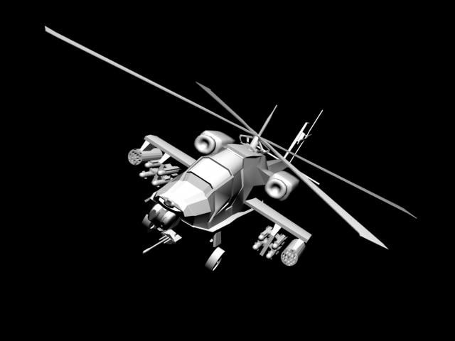apache helicopter 3d ma