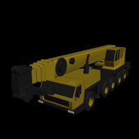 LOW POLY GROVE GMK 5240 BOOM CRANE.3DS