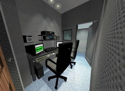 3d model of home recordings studio