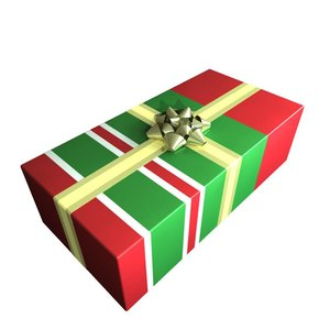3d obj wrapped giftbox