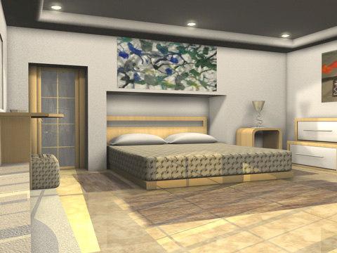 bedroom bed room c4d