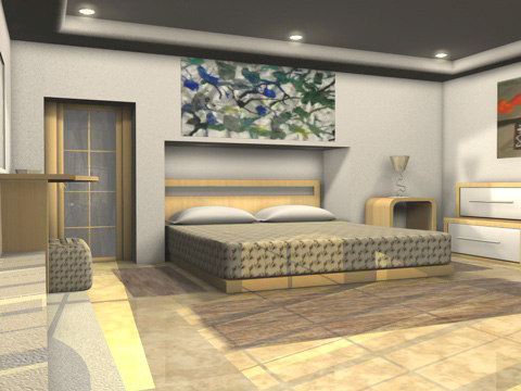 bedroom bed room c4d