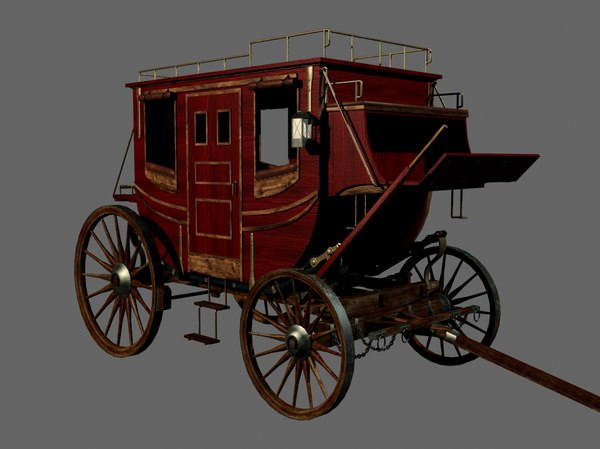 stage coach 3d max