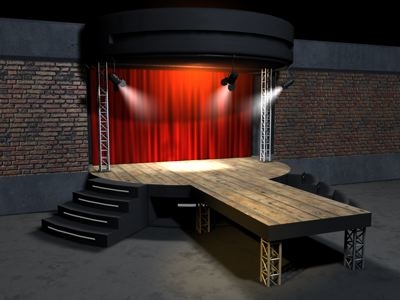 spotlights curtain 3d model