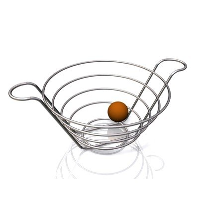 stainless steel fruit bowl 3d model