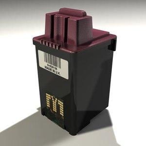 3ds max printer cartridge print