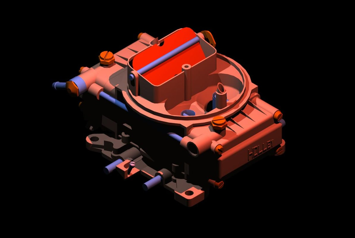 holley 750 3d model