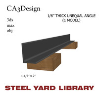 3d model of 1 8 unequal angle