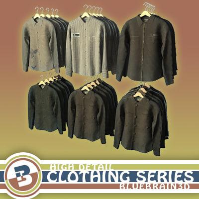 3d model clothing - hung shirts