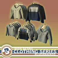 clothing - hung sweaters 3d obj