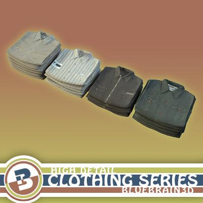 clothing - folded shirts 3ds