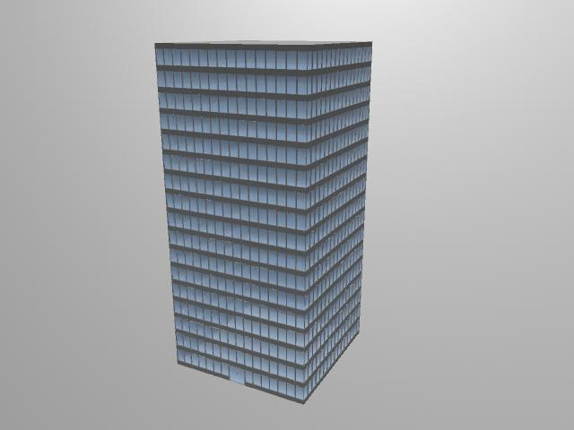 free skyscraper city 3d model