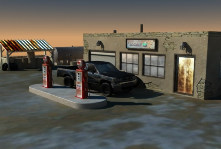 east gas station 3d 3ds