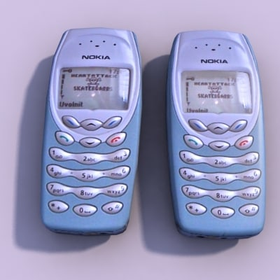 3d model cellular phone nokia 3410