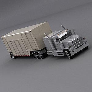 3ds max semi trailer truck