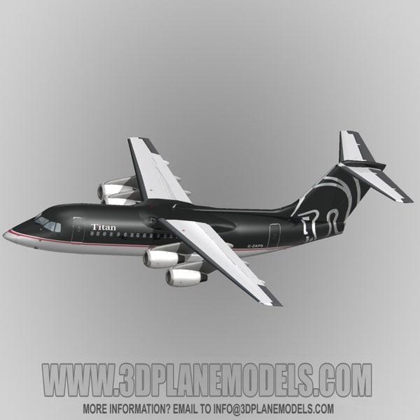 3ds max british aerospace 146-200 titan