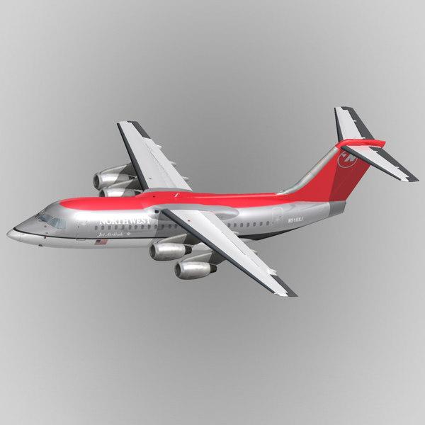 bae 146 avro rj 3d model