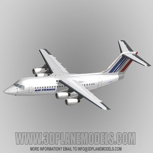 3d model british aerospace 146-200 air france