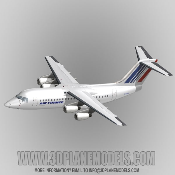3d model british aerospace 146-200 air france