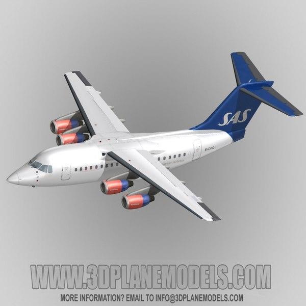 british aerospace 146-100 80 3d 3ds