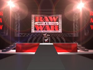 arena wwf raw war 3d model