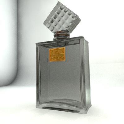 perfume bottle 3d dxf