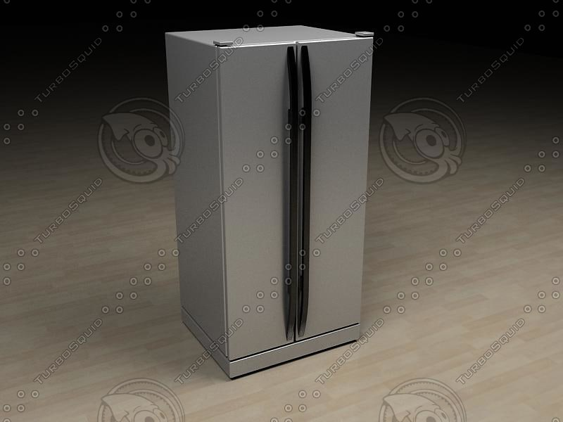 fridge samsung rs20 ncl 3d model