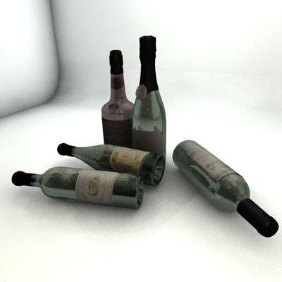 3ds wine bottle