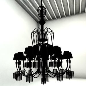 3d model baccarat chandelier