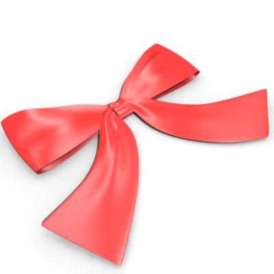 3d model ribbons bow presents