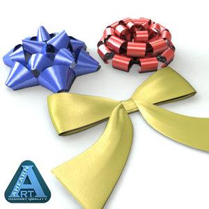 ribbon bow 3d model