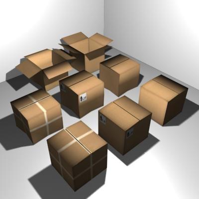 3d model carton boxes