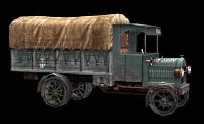 maya low-poly army truck
