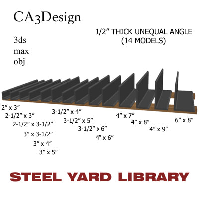1 unequal angle 3d max