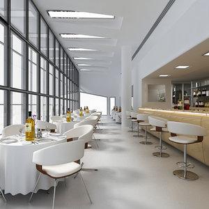 restaurant bar 3d max