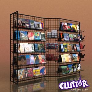calendar rack 3d 3ds