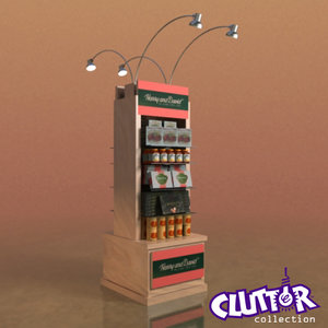 3d model candy display