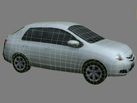 Low Poly Car: Toyota Yaris 2006