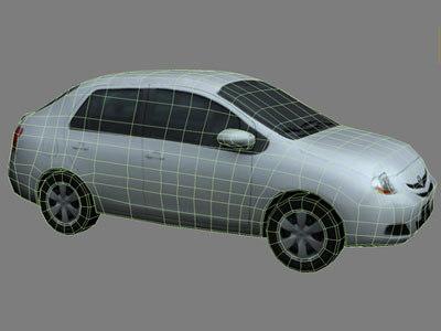 polys cars 3d model