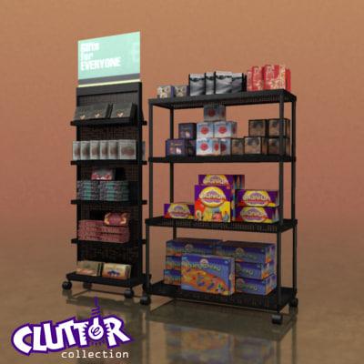 3d model gift rack clutterutilityunit