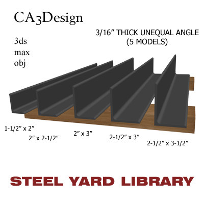 3d model 3 unequal angle