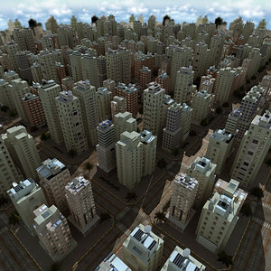 city updated 3d 3ds