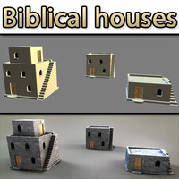 biblical medieval house 3d model