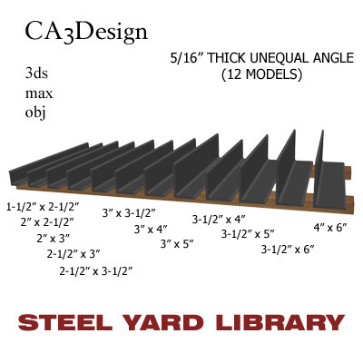 3d 5 unequal angle model