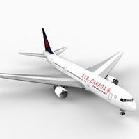3d model 767-300 air canada
