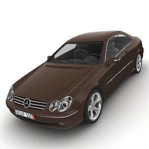3d 2003 mercedes benz clk w209 model