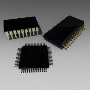 3ds max chip microprocessor