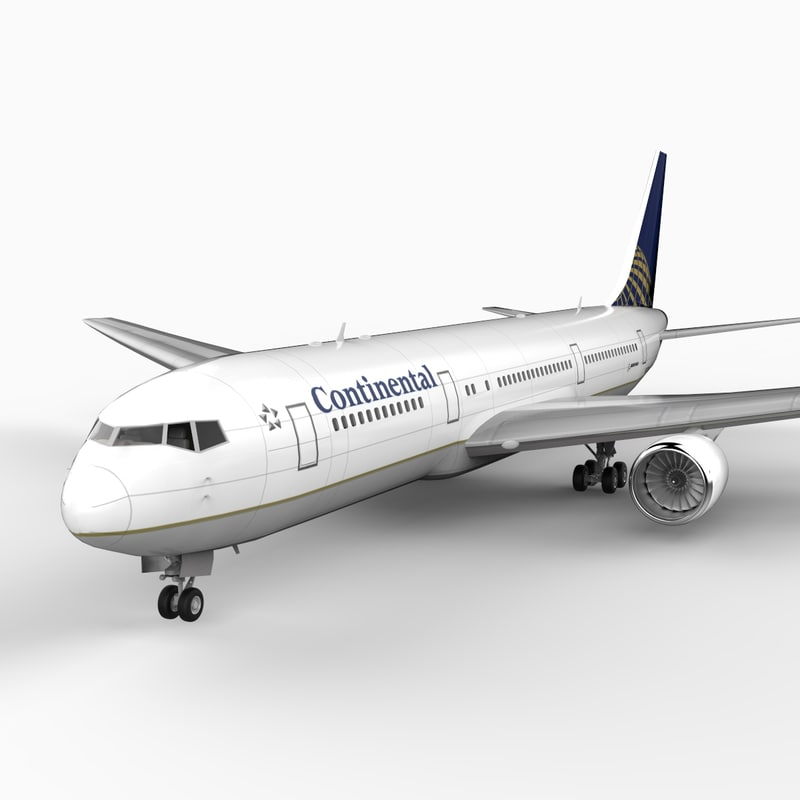 3d model of 767-300 continental airlines