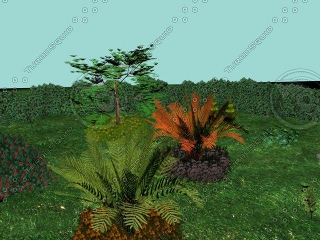 plants bushes shrubs flowers 3d model