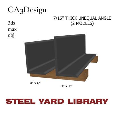 7 unequal angle 3d obj